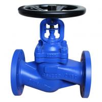 Buy cheap Bellow Seal Manual Globe Valve,DIN 3356, GS–C25, DN80, PN16, RF Flanged end from wholesalers