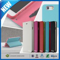 Best PU Stand Iphone 6 Plus Premium Cell Phone Leather Cases With Card Slot wholesale