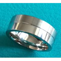 Best 8mm Flat Surface Half Shiny Polish Half Matt Brush Finished Cobalt Chrome Ring Wedding Band Jewelry Ring wholesale