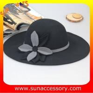 Best 8300399 Sun Accessory customized  winner  fashion 100% Australia wool felt floppy hats, women hats and caps wholesaling wholesale