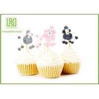 China Golden Gold Happy Birthday Cake Topper , Pumpkin Shape Cake Decorating Toppers on sale