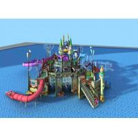 Best Commercial Water Park Equipments , Fiberglass Aqua Park Pool Slides wholesale