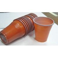 Best 5 Oz 166ml Disposable Juice Cups , Double Color Custom Plastic Coffee Cups wholesale
