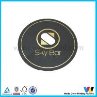Best Black absorbent Paper Printed Personalized Drink Coaster Support CMYK offset printing wholesale