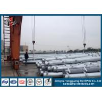 China 138KV Q345 Steel Electrical Power Poles for Power Transmission Line on sale