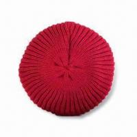 China Knitted Women's Hat, Fashionable, Good Looking and Soft Hand-feeling on sale