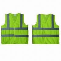 China Safety Vests, EN471/EN343 Standard, Made of 100% Polyester Mesh on sale