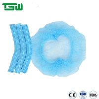 China Breathable Anti Bacteria OEM PP SMS Disposable Mob Cap on sale