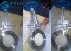Best Handwheel Wafer Lugged Ceramic Lining Knife Gate Slurry Valve With Self Cleaning wholesale