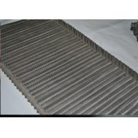 China SS Balanced Weave Belt / Chain Link Conveyor Belt Wire Mesh For Transport on sale