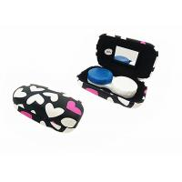 Cheap Heart Pattern Iron Contact Lens Travel Case Lovely Suitable For Women / Youth for sale