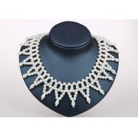 Best Triangle Handmade Simulated Pearl Jewellery Collar Necklace For Anniversary Party wholesale