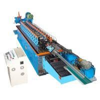 Best 15KW Hat Channel Cold Rolling Machine With Cr 12 Blade Hydraulic Cutting wholesale
