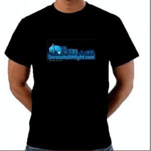 Best Hot sale el lighting t-shirt wholesale