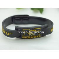 Best FREE SAMPLE Debossed color filled rubber wrist bands cheap bracelet custom silicone wholesale