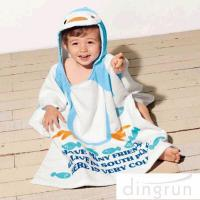 Best Super Soft Boys Towel Poncho , Personalised Poncho Towels For Toddlers wholesale