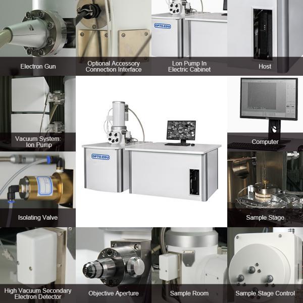 Cheap OPTO-EDU 15x - 500000x Scanning Electron Microscope Schottky Emission Electron Gun A63.7080 Std FEG SEM for sale