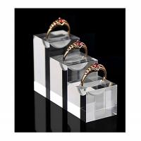 Best Durable Acrylic Jewelry Display , Modern Clear Glass Unique Ring Holder wholesale