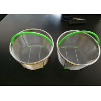 China Brewing 316 Stainless Steel Fine Wire Mesh Filter Basket Corrosion Resistance on sale