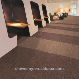 China Multi level loop striped pattern Nylon6 carpet tile for office on sale