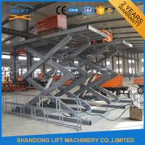 Best 3T 4.6M CE Stationary Hydraulic Scissor Lift , Warehouse Cargo Lift wholesale