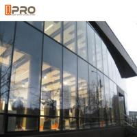 Tempered Glass Aluminium Curtain Wall With Logo And Pattern Printed
