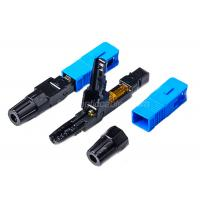 Best 0.2dB SC / UPC Fiber Optic Fast Connector Blue FOR FTTH Flat Drop Cable wholesale