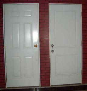 Best 6 Panel Metal Door ( wooden edge,  white color) wholesale