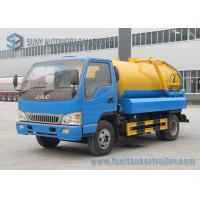 China JAC RHD LHD 6000L  Sewage Vacuum Truck With Pump 6000 L Water Tank Volume on sale
