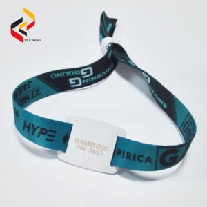 Best Waterproof MIFARE 1K NFC quantity Polyester woven bracelet wristband wholesale