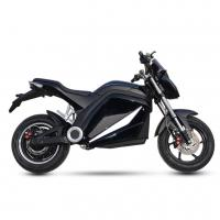 China High Performance City Electric Motorcycle , Electric Motorcycle Scooter Black Color on sale
