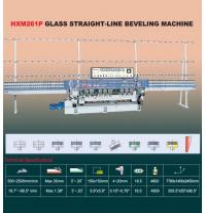 China Automatic Glass straight line beveling machine on sale