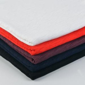 China Breathable Plain Dyed 10s Jersey Knit Textile Slub Single 100% Cotton Fabric on sale