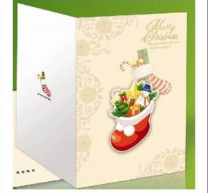 Best Custom Handmade Beautiful Decoration Merry Christmas Printable Greeting Cards wholesale