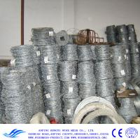 China Hot-Zinc Plating Barbed Wire, PVC coated iron wire in blue, green, yellow and other colors. on sale