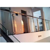 Best Easy Installation Apartment Balcony Railing Stainless Steel Building Railing Post Glass wholesale