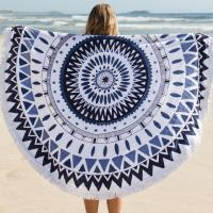 China Round Circle Beach Towel Microfiber Round Printed Tassel Beach Towel Cheap Beach Towel on sale