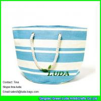 Best LUDA 2015 best sale striped paper straw beach bags wholesale