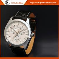 024B 3 Subdials Unisex Watch Genuine Leather Strap Quartz Watches for Man Women's Watches