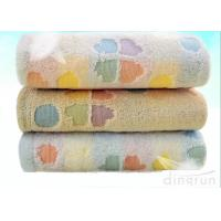 China Flannel Face Cloth / Embroidered Face Towels With Jacquard Logo on sale