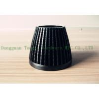 China Extrusion LED Lamp Heat Sink Anodic Oxidation Aluminum With Black Color on sale