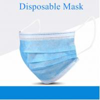 Best 3 Ply Disposable Non Woven Mask , Highly Breathable Disposable Pollution Mask wholesale