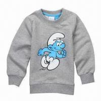China Children's T-shirt, Long Sleeve, Round Neck with Print on sale