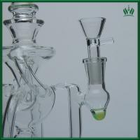 Buy cheap 3 Splited Perc Glass Water Bubblers , 10 Inches Glass Smoking Water Pipe Bubbler from wholesalers