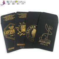 Best OEM Envelope Printing Services Shatter Black Gold Oil Wax Extract Coin Envelopes 2.25 X 3.5 Inch wholesale
