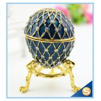 Best Handmade Enamel metal decorative egg boxes with diamond wholesale