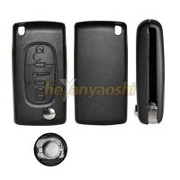 China Supplier Selling Citroen C2 C3 C4 C5  3 Button Flip Key Shell , Folding Remote Key Cover Trunk Button Case on sale