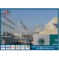 China Power Transformer Substation Tubular Steel Utility Structures Q235 ISO 9001 on sale