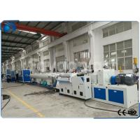 China 50~160mm PVC Pipe Extrusion Machine / UPVC Extrusion Machinery Double Screw on sale