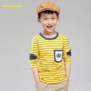 China Boy T-shirt, long sleeves, yellow on sale